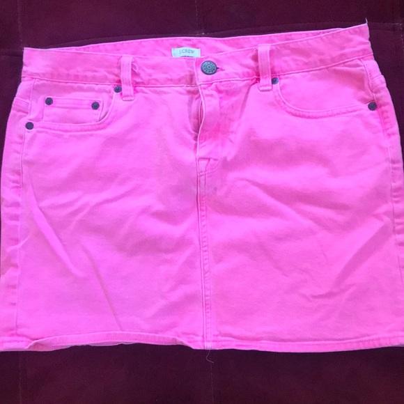 f7220ca3ab J. Crew Skirts | J Crew Hot Pink Denim Mini Skirt | Poshmark
